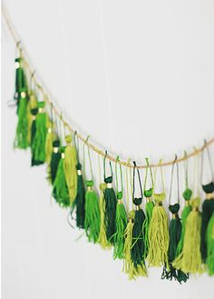 Click Pic for 24 St Patricks Day Decor Ideas | Tassel Garland | St Patricks Day Ideas