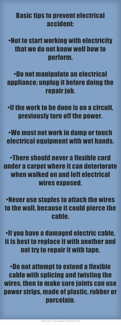 Basic tips to prevent electrical accident #electricalcontractor #Electricalinstallationsafety
