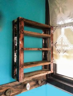 Industrial Reclaimed Pallet wood Book Shelf/ Spices Rack /Jewelry Display /Storage Unit on Etsy, $297.99 AUD