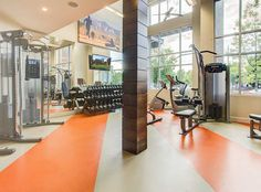 State-of-the-art fitness center at AMLI Riverfront Park, LoDo luxury apartments.