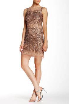 Adrianna Papell Embellished Mini Dress