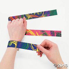Tie-Dyed Slap Bracelets - Oriental Trading
