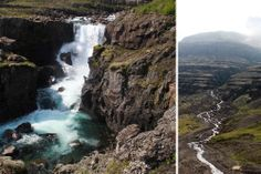 Exploring the Eastern Fjords ~ #IcelandChallenge Day 4. Beautiful waterfall in the Berufjörður valley that is worth exploring.