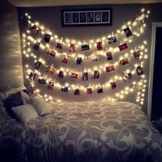 these fairy lights make it look so pretty. it really gives it a different aperrance