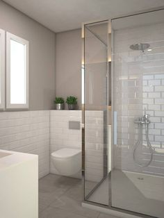 Most Popular Small Bathroom Remodel Ideas on a Budget in 2018 This beautiful look was created with cool colors, and a change of layout. Bathroom Toilets, Bathroom Renos, Laundry In Bathroom, Bathroom Layout, Bathroom Colors, White Bathroom, Bathroom Interior, Modern Bathroom, Small Bathroom
