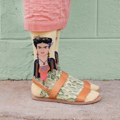 Frida Kahlo Self Portrait - Stylist Kate Brien teamed up with Vogue to style a full range of fantastical socks featuring some of the worlds most famous artworks.