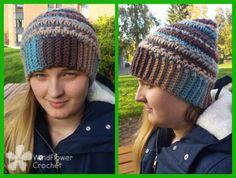 15 Fabulous FREE Star Stitch Crochet Patterns: Star Stitch Beanie Free Crochet Pattern by Windflower Crochet