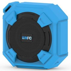 Amuoc Bluetooth Speakers, Portable IP65 Waterproof Outdoor/Shower Bluetooth Speaker Rugged Hi-Def Bass Sound with 10Hr Playtime, Blue
