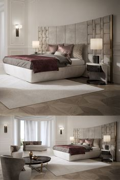 This beautiful collection epitomises modern Italian furniture, truly reflecting refined contemporary elegance. Superbly executed by master Italian craftsmen these designs are - Salvabrani White Lacquer Bedroom Furniture, Master Bedroom Interior, Luxury Bedroom Design, Modern Master Bedroom, Bedroom Bed Design, Luxury Furniture, Furniture Design, Modern Furniture, Furniture Outlet