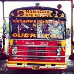 Chicken bus  -kitsch loud & colourful