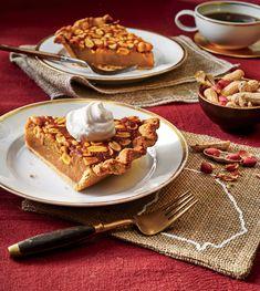 Georgia Peanut Pie with Peanut Butter Crust and Brown Sugar-Bourbon Whipped Cream Peanut Pie Recipe, Peanut Butter Recipes, Fall Desserts, Just Desserts, Delicious Desserts, Yummy Food, Peanut Butter Filling, Butter Crust, Creamy Peanut Butter