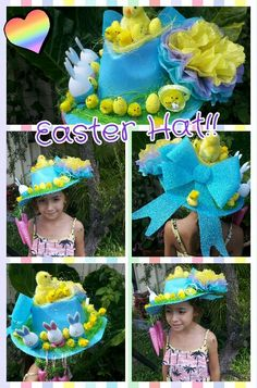 Little M might not have an Easter hat parade this year at her school but my nephew little T does and I've been asked to make his Easter hat this year! Crazy Hat Day, Crazy Hats, Easter Crafts For Toddlers, Crafts For Kids, Easter Ideas, Nursery Activities, Easter Activities, Easter Bunny, Easter Bonnets
