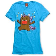 Domo Unicorn Girls Aqua Tee Shirt