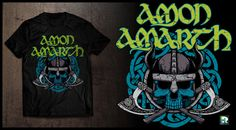 Amon Amarth T-shirt design.