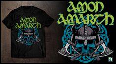 Amon Amarth T-shirt design.