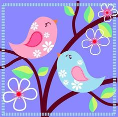 birds in tree Applique Patterns, Applique Designs, Embroidery Designs, Motifs D'appliques, Vogel Quilt, Art Fantaisiste, Diy And Crafts, Arts And Crafts, Bird Quilt