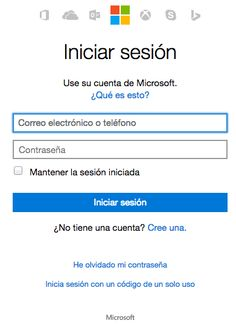 Hotmail Iniciar Session de entrada
