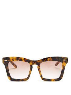 c36dde2802c01 KAREN WALKER Banks tortoiseshell acetate sunglasses.  karenwalker