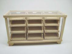 Miniature dollhouse unfinished counter for shop  - code. VMJ1514 di viliaminiature su Etsy