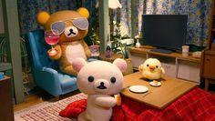 Rilakkuma and Kaoru Rilakkuma Plushie, Rilakkuma Wallpaper, Kawaii, Reaction Pictures, Cute Pictures, Coloring Books, Chibi, Anime, Teddy Bear