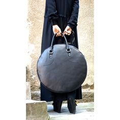 "NEW Dark Pumpkin"" Genuine Leather Bag High Quality Tote Circle Large... ($273) ❤ liked on Polyvore featuring bags, handbags, tote bags, leather tote bags, leather zipper tote, blue purse, leather zip tote and leather handbags"