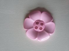 Extra Large Flower Button Baby Pink