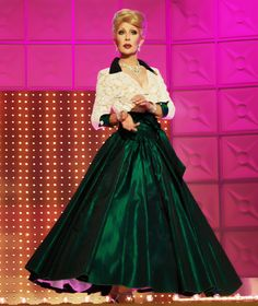 Yes, this is Chad Michaels from RuPaul's Drag Race.  But what a great outfit!