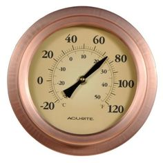Amazon.com: AcuRite 02321 8-Inch Copper Porthole Thermometer: Home & Kitchen