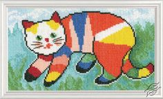 Ipainted the cat... - Cross Stitch Kits by RTO - M533