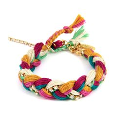 Tropical Punch Friendship Thread Braided Bracelet