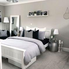 Grey Bedroom Decor, Room Ideas Bedroom, Trendy Bedroom, Bedroom Furniture, Modern Bedrooms, Ikea Bedroom, Bedroom Black, Bedroom Designs, Contemporary Bedroom