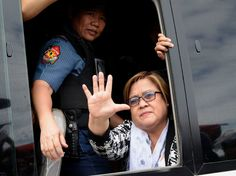 Leila de Lima, 57, was jailed in February on President Rodrigo Duterte's orders, after she launched a Senate investigation into Duterte's bloody war on drugs. It's not the first time they've tangled.