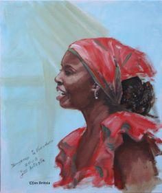 Painting of Singer in Varadero 2008, by Jan Britsia