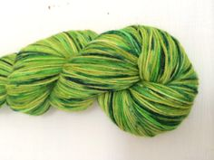 """Hand dyed 4ply sock yarn - """"Grass Stains"""" afinefishyarns on Etsy"""