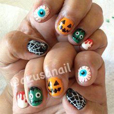 Halloween nails♡ by azusa - Nail Art Gallery nailartgallery.nailsmag.com by Nails Magazine www.nailsmag.com #nailart