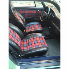 Vw Mk1, Volkswagen, Car Interior Upholstery, Porsche 930, Pretty Cars, Muscle Cars, 1 Year, Hot Rods, Tartan