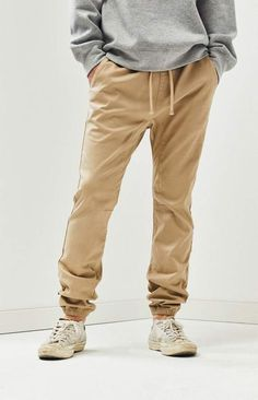 Keep the PacSun Khaki Skinny Jogger Pants on rotation for some easy laidback style. These new go-tos have front and back pockets, a comfortable skinny fit, and elasticized bands at the waist and ankle cuffs. Khaki Joggers, Skinny Joggers, Jogger Pants, Khaki Pants, Pacsun Mens, Kylie Jenner Outfits, Victoria Secret Panties, Laid Back Style, Victoria Dress