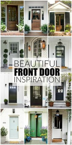 From light and bright to deep and dark, updating your front door is the fastest, easiest and most affordable way to up your curb appeal. The ultimate guide for beautiful front door inspiration. Doors, House Exterior, Door Makeover, Front Door Makeover Curb Appeal, House, Beautiful Front Doors, Front Door Makeover, Painted Front Doors, Exterior