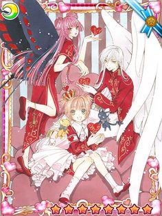 Yue, Ruby Moon y Sakura ::: Card Captor Sakura Cardcaptor Sakura, Yue Sakura, Syaoran, Manga Anime, Anime Art, Sakura Card Captors, Gatomon, Fanart, Xxxholic
