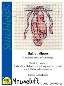 Ballet Shoes Cross Stitch Kit: Cross stitch (Mouseloft, 004-H04stl)