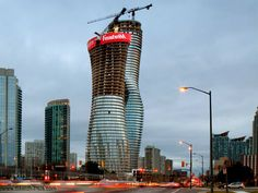 The Absolute Towers, Mississauga, Canada... Before completion.