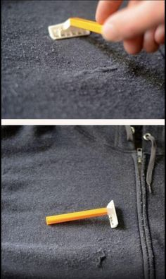 How to remove extra fuzz from clothing