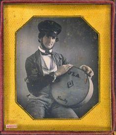 ca. 1850's, [daguerreotype portrait of a gentleman, possibly a cheese vendor] via the Daguerreian Society, Matthew R. Isenburg Collect...