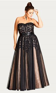Shop our collection of plus size prom dresses for a night to remember. City Chic is your one-stop shop for all things curvy and glamorous, bold and sexy. Plus Size Formal Dresses, Plus Size Gowns, Dress Plus Size, Evening Dresses Plus Size, Plus Size Outfits, Evening Gowns, Mode Plus, Looks Plus Size, Curvy Dress