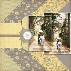 single page scrapbook layout Like the paper layout