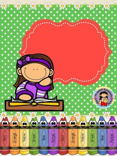 Letrero Classroom Clipart, School Clipart, School Binder Covers, Teacher Must Haves, Bible Study For Kids, Cute Frames, School Tool, Card Book, School Worksheets