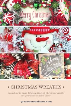 Learn How To Make Stunning Christmas Wreaths Wreath Tutorial, Diy Tutorial, Bow Making Tutorials, Holiday Wreaths, Holiday Decor, Wreath Making Supplies, Cotton Decor, Classy Christmas, Diy Furniture Easy