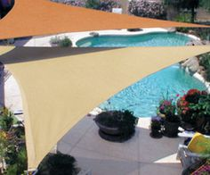 There are lots of pergola designs for you to choose from. First of all you have to decide where you are going to have your pergola and how much shade you want. Pool Shade, Backyard Shade, Outdoor Shade, Patio Shade, Pergola Shade, Outdoor Pool, Coolaroo Shade Sail, Patio Roof, Gardens