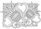 Download, print, color-in, colour-in Page 18 - Spikey Flowers