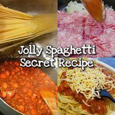Jolly Spaghetti Secret Recipe – Famous Last Words Copycat Recipes, Sauce Recipes, Beef Recipes, Cooking Recipes, Healthy Recipes, Cooking Steak, Hot Dog Spaghetti, Filipino Spaghetti, Sauces